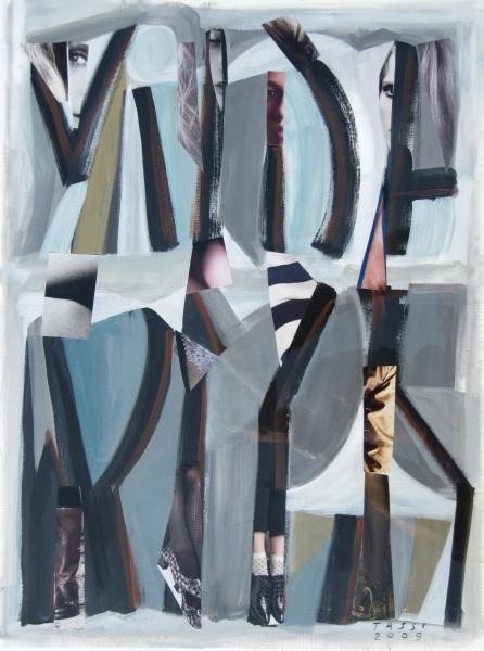 composizione astratto-figurativa