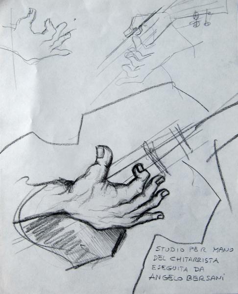 studio per mano del chitarrista (fatto da Angelo del Devero)
