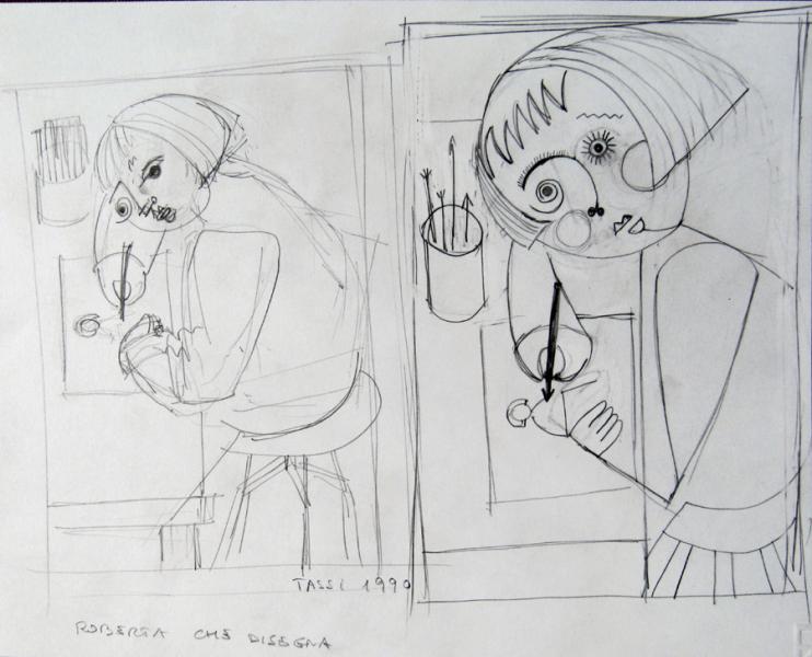 studio per roberta che disegna