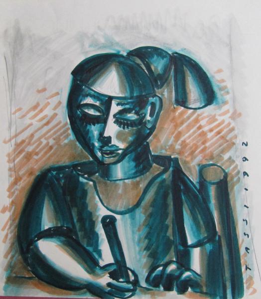 bambina ch disegna