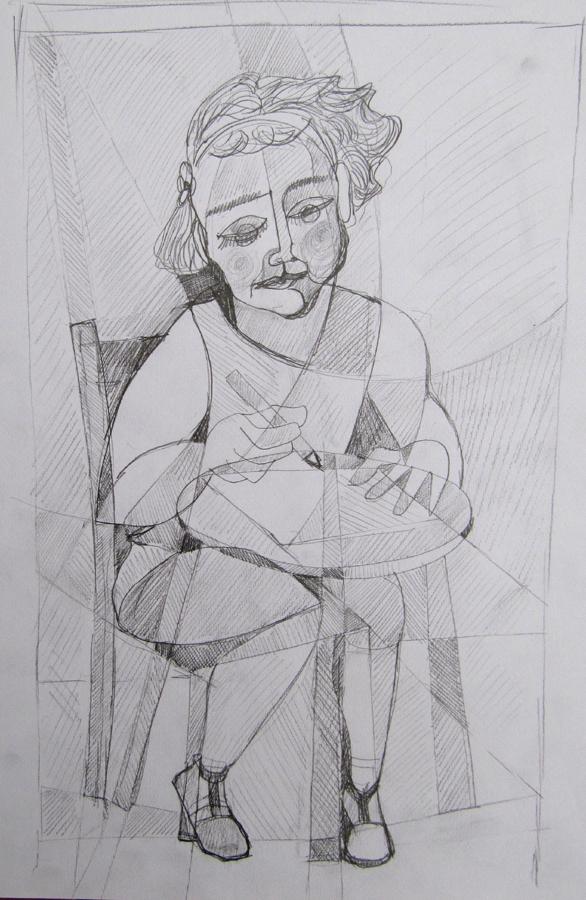 93009 - bambina che disegna r